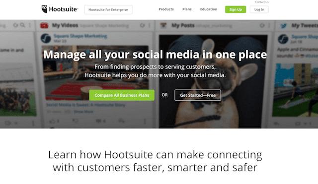 Landing Page пример hootsuite com