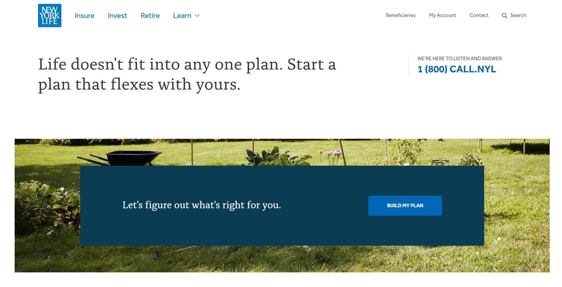 сайт страховой компании пример 1